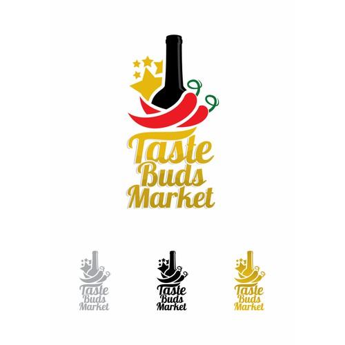 Create the next logo for Taste Buds Market