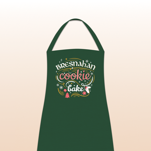 Apron for Family Christmas Cookie Bake