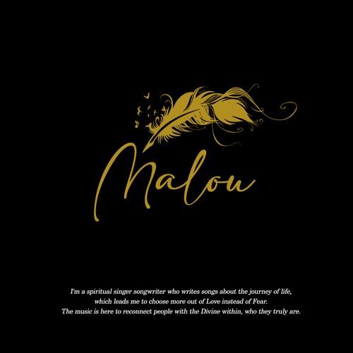 Malou, Divine Logo & Brand for a spiritual singer & songwriter
