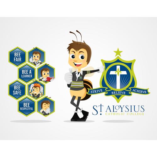 Character Bee design for St. Aloysus
