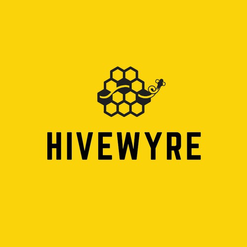 Hivewyre - the logo design project for designers, simple, elegant, tech.