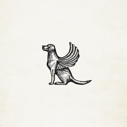 Dog of Venice (winged dog) illustration/icon