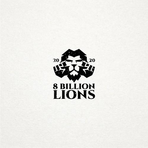bold logo for 8 billion lions