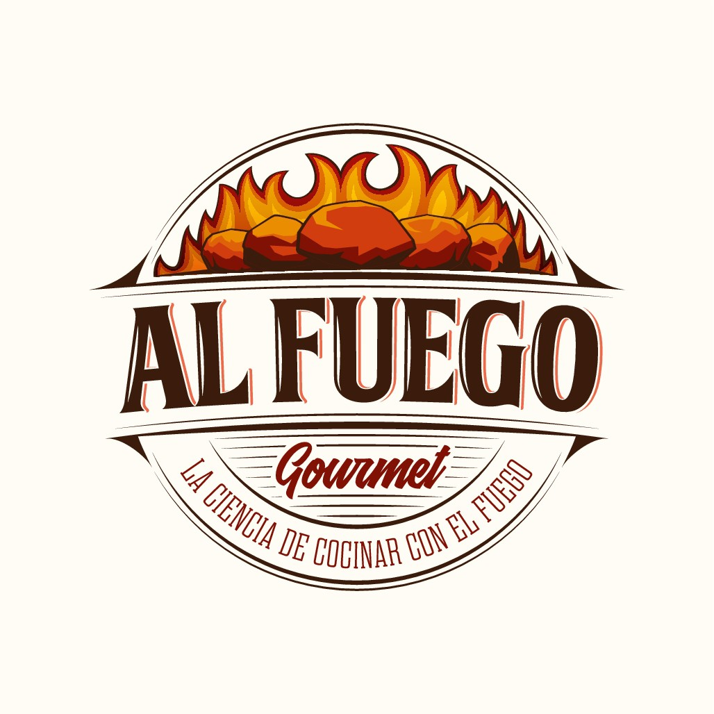 Logo with USA feel for Mexican BBQ blog