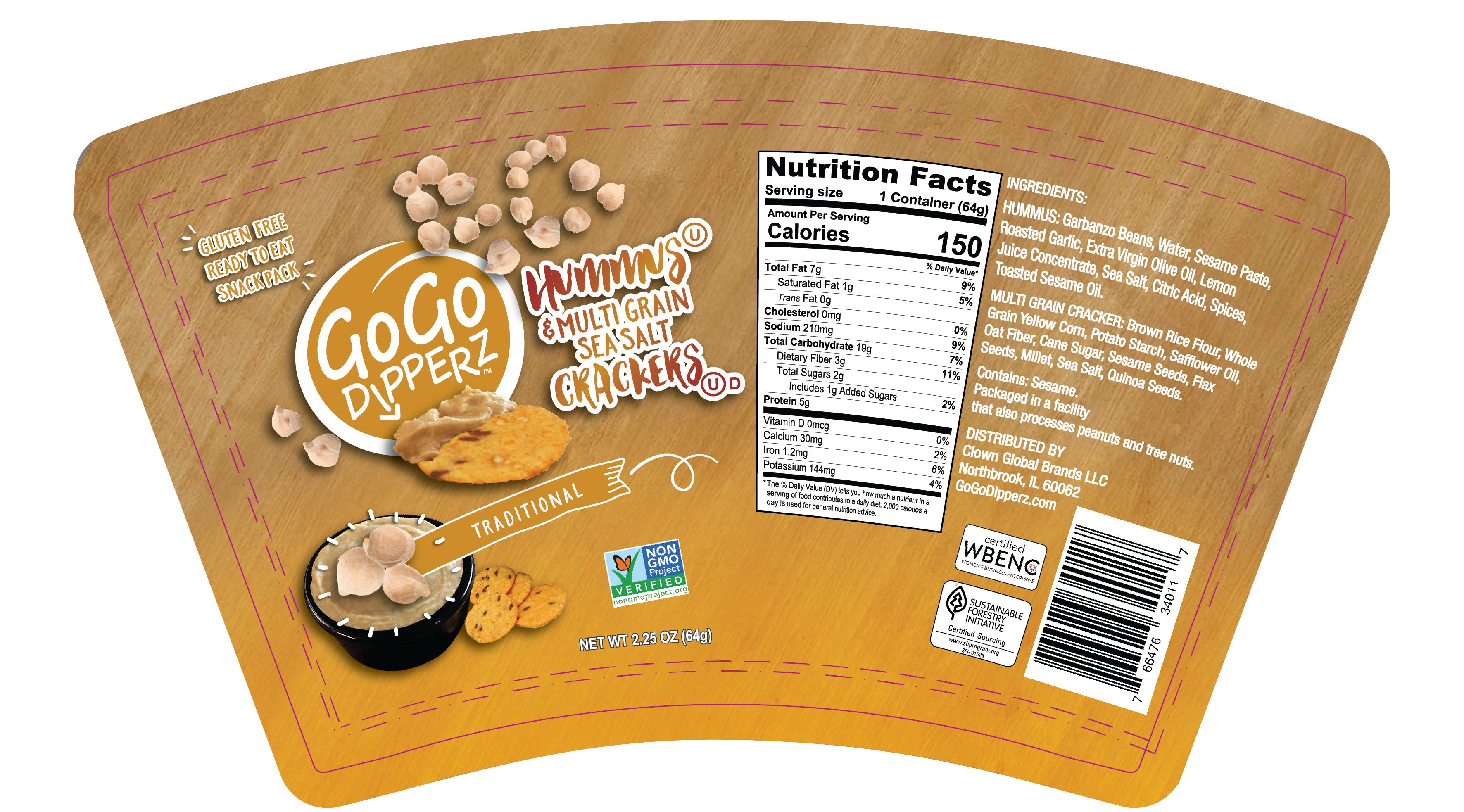 Hummus and Black Bean Snack Pack Designs (4-flavors)