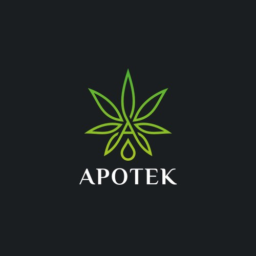 modern line work logo for CBD products