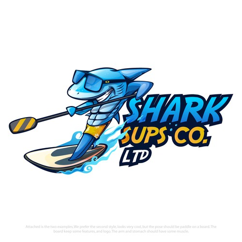 Design a cool look Shark Mascot