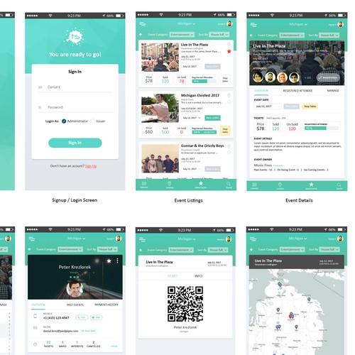 Event management app design