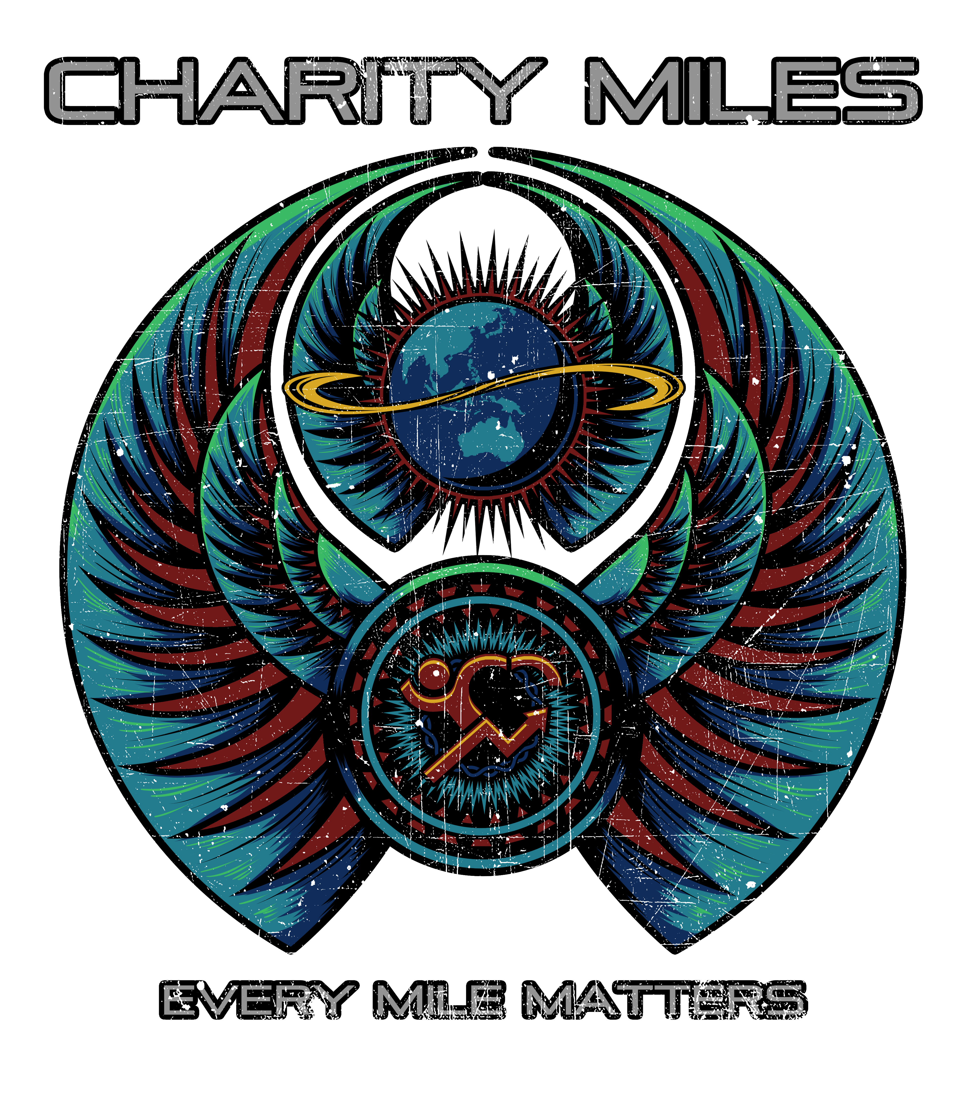 "Create a vintage-rock ""Journey""-inspired T-Shirt for Charity Miles"
