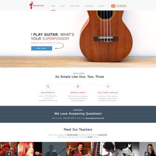 Web design for Red Pelican Music