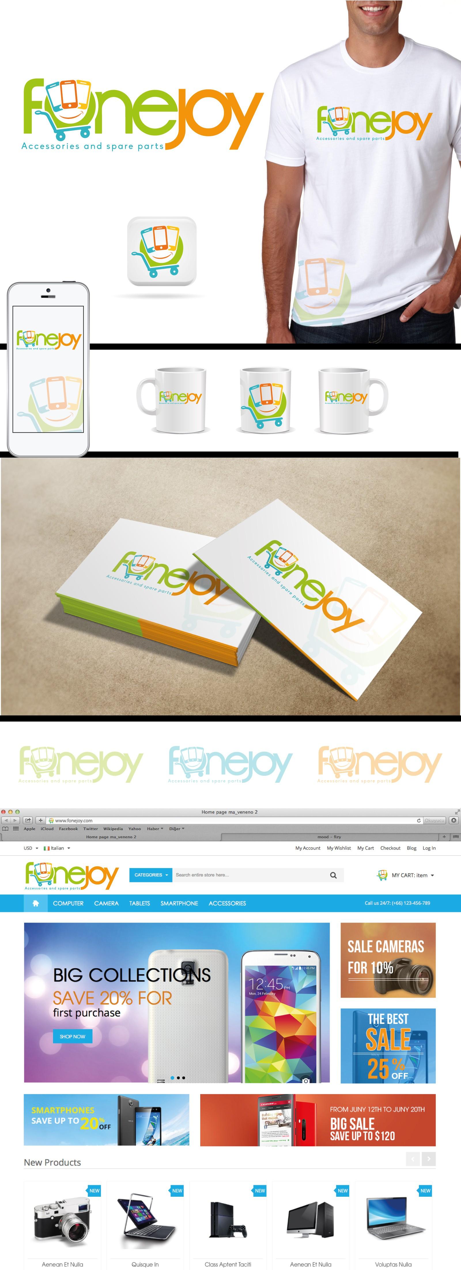 Design a fun modern logo for Fonejoy