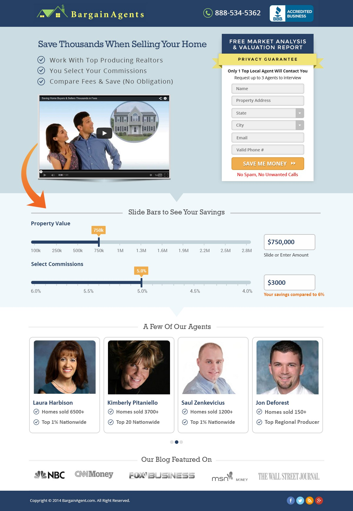 Redesign: Lead Capture Real Estate Landing Page