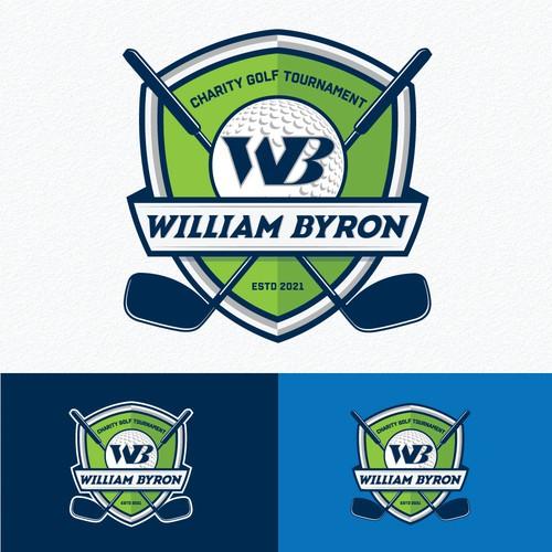 William Byron NASCAR driver - charity golf tournament logo