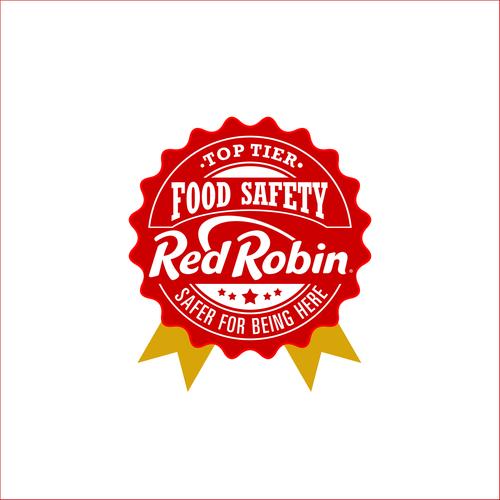 Red Robin Badge Logo Design