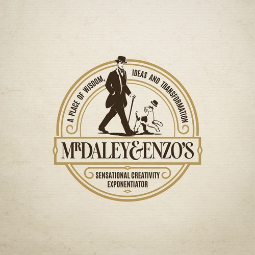 Illustrative logo with a vintage look