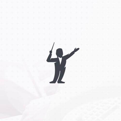 Minimalistic character logo