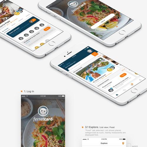 Ferret Card App facelift design