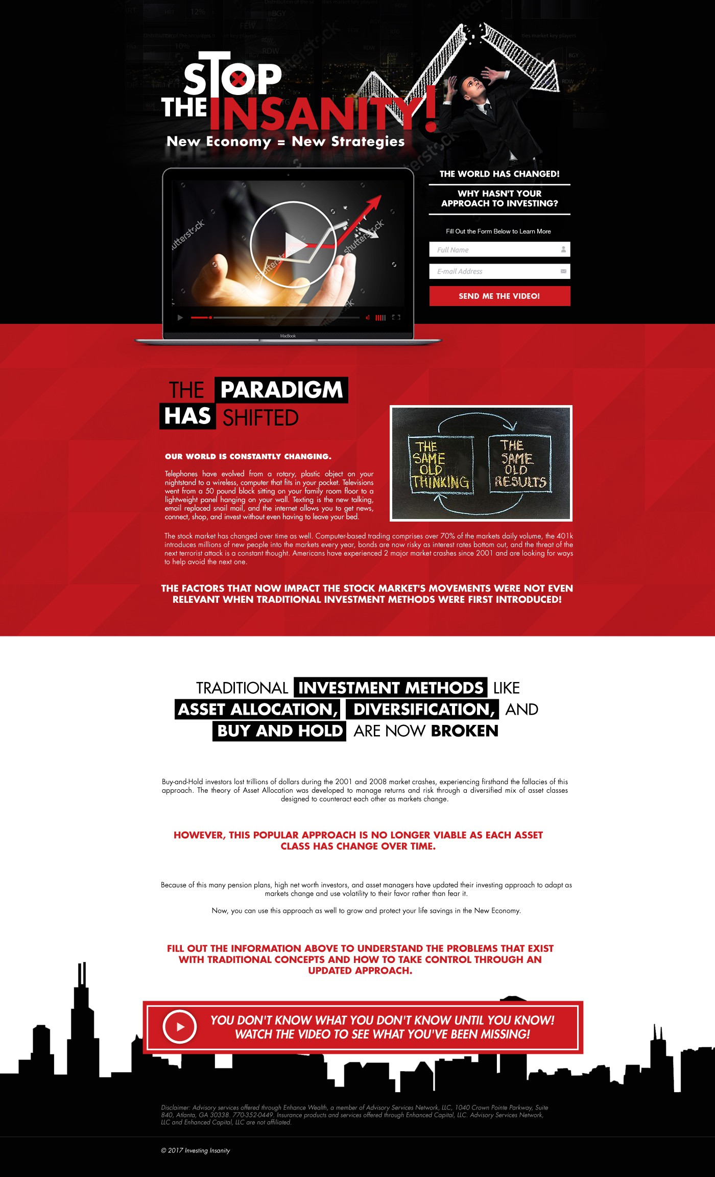 Investing Insanity Landing Page