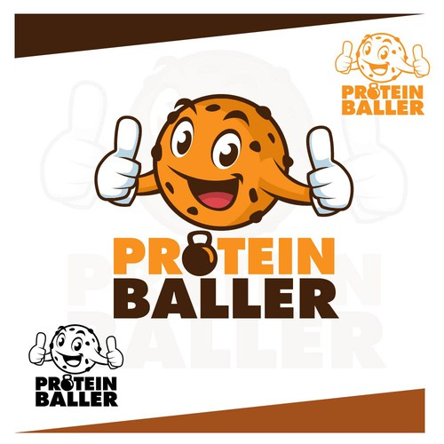 Playful Character and Logo Design for Protein Baller