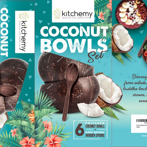Kitchemy Coconut Bowls Set