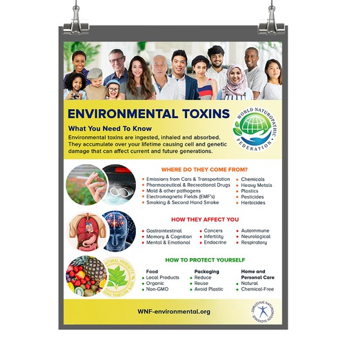 Informative poster about Environmental Toxins.