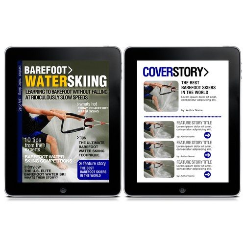 Design for iPad Magazine Template