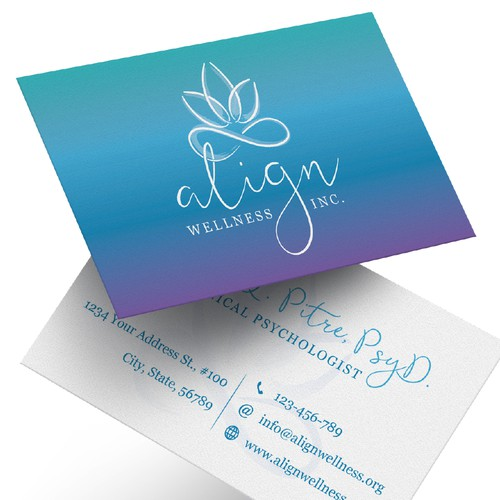 Logo and Business Card Design for a Psychologist
