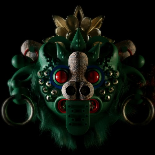 barong mask 3d art -character
