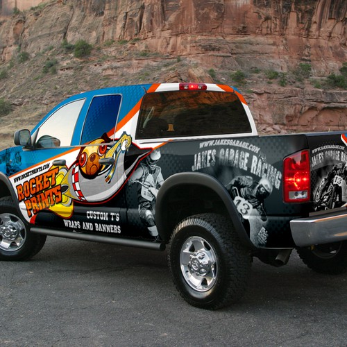 Truck Wrap Design for Rocket Prints