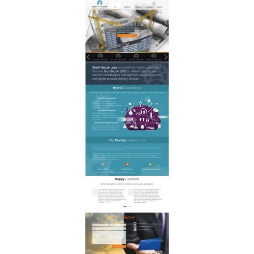 website design for Steel House Labs