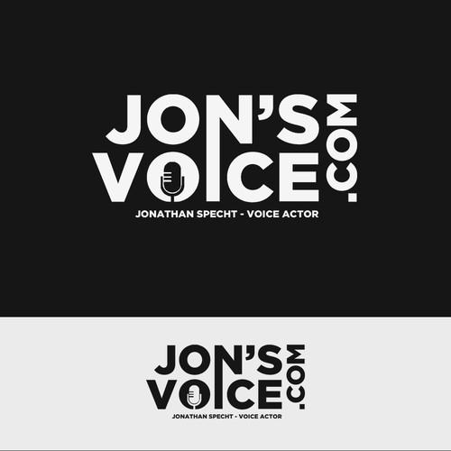 Voice over actor logo.