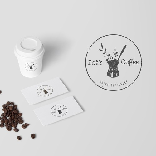 Logo for the new cafe concept that focuses on Turkish coffee aka Greek Coffee