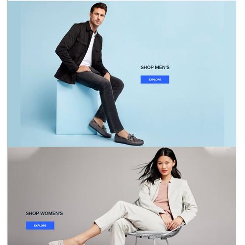 Ecommerce website for a footwear shop