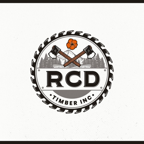 Design a Pacific NW logo for a family oriented logging company