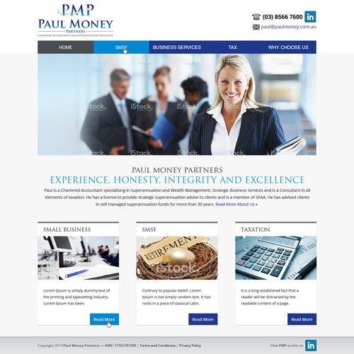 Clean and elegant Website design for Accountant