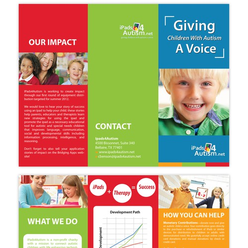 New brochure design wanted for iPads4Autism
