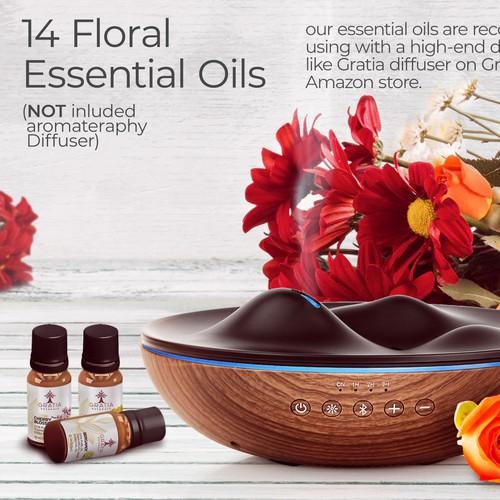 Gratia Naturals Oil Diffuser  Amazon Ad