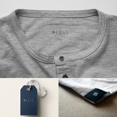 less apparel needs a beautiful minimalist, surfing feel logo