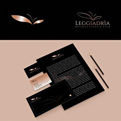Elegant logo and brand identity design for Leggiadrìa