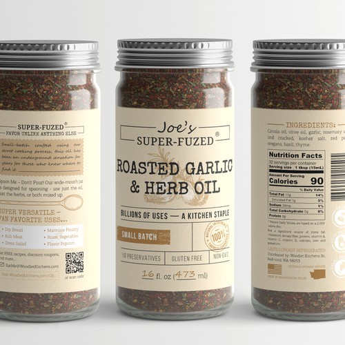 Gourmet food product label