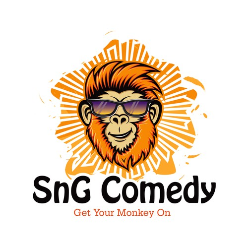 Monkey Logo for a comedy video brand
