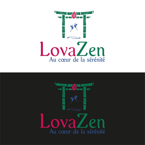 Logo for LovaZen, well-being places thanks to nature
