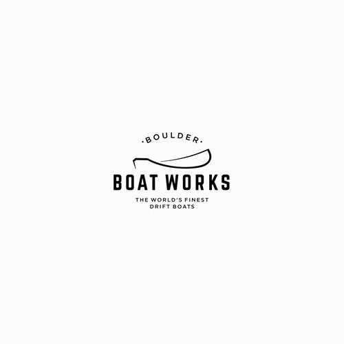 Best fly fishing drift boats logo.