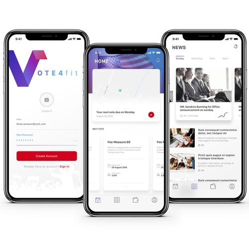 Vote Reminder app Concept
