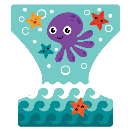 Create a lovely BABY SWIMMING DIAPER for Alvababy