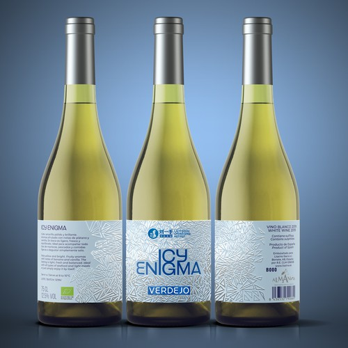 Icy Engima wine label for Chinese restaurant network