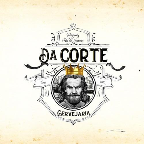Logo e identidade visual para cervejaria da corte
