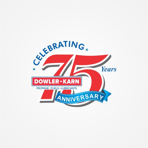 uel Distributor requires a creative 75th Anniversary Logo