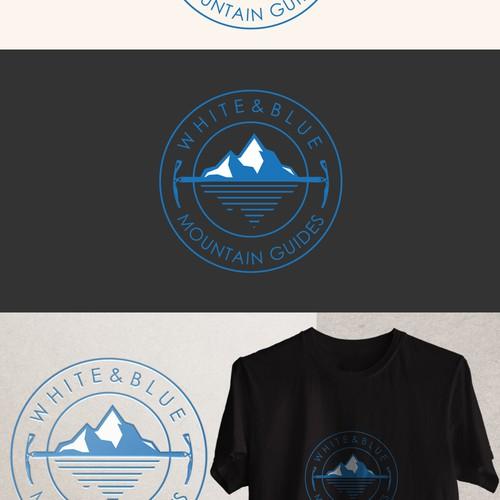 white & blue logo