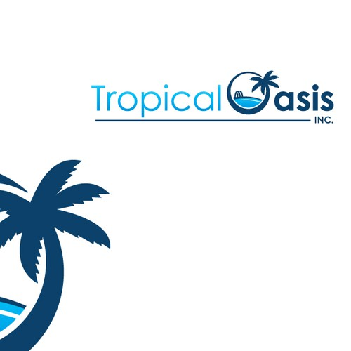 Create a modern, playful and beautiful logo for a starting Pool Service Company